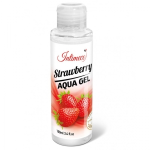 INTIMECO STRAWBERRY AQUA GEL LUBRIKAČNÍ 100 ml
