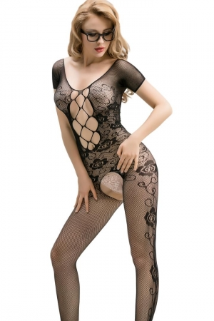 CROTCHLESS LACE BODYSTOCKING NIGHT FANTASY