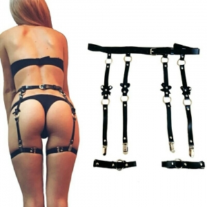 BONDAGE FASHION BDSM GARTER BELT